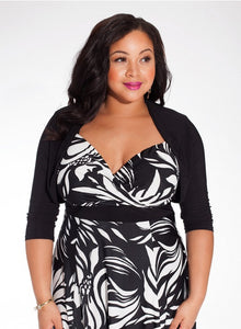 plus-size-bolero-black