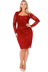 plus-size-lace-dress-wine-front