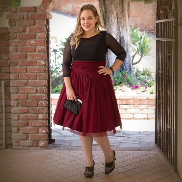 plus-size-tulle-skirt-berry