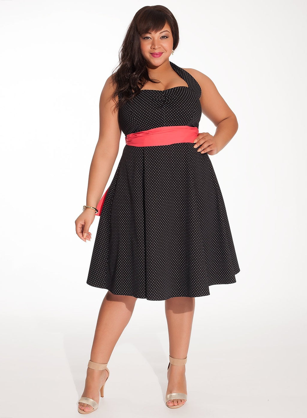 plus-size-vintage-polka-dot-dress-