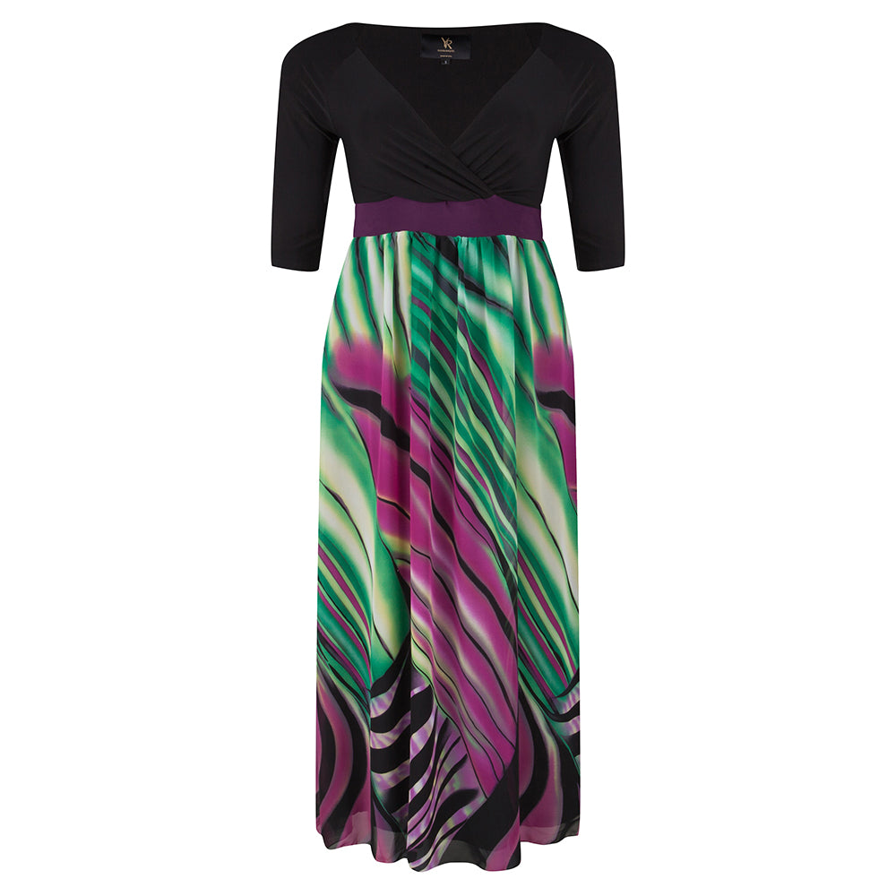 rainforest-plus-size-3/4-sleeves-maxi-dress