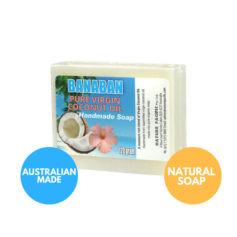 BANABAN Pure Coconut Oil Soap 120g