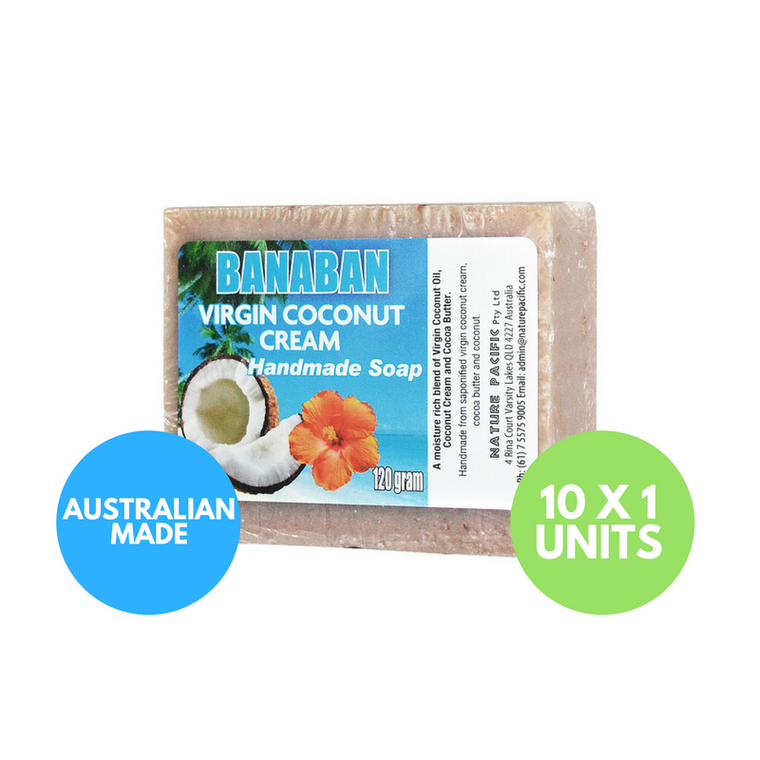 BANABAN Coconut Cream Coconut Oil Soap 120g x 10 Units