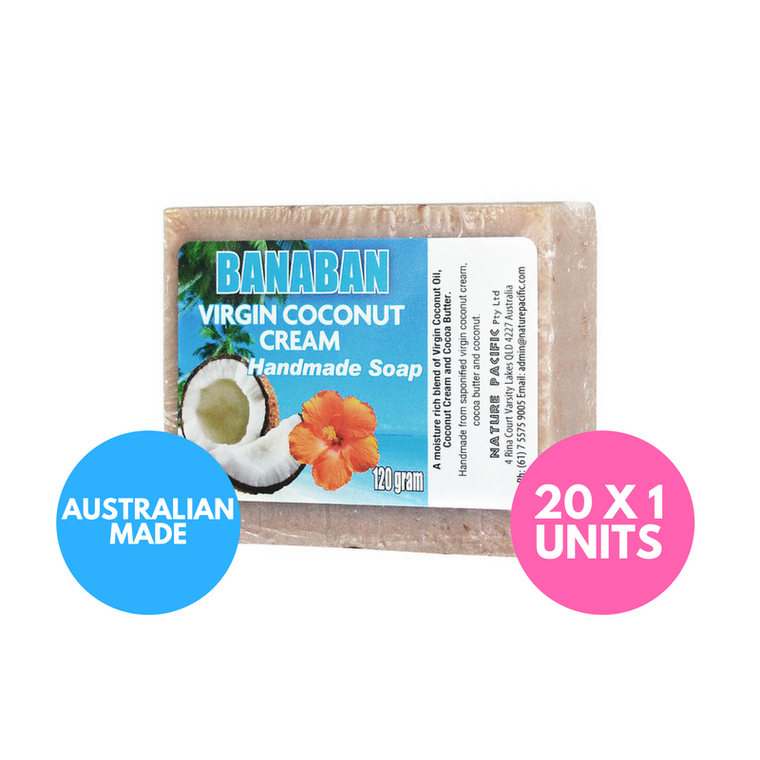 BANABAN Coconut Cream Coconut Oil Soap 120g x 20 Units