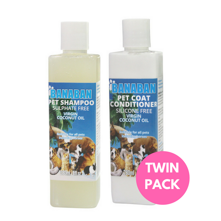 Banaban Coconut Rich Pet Shampoo & Pet Conditioner Twin Pack 300ml