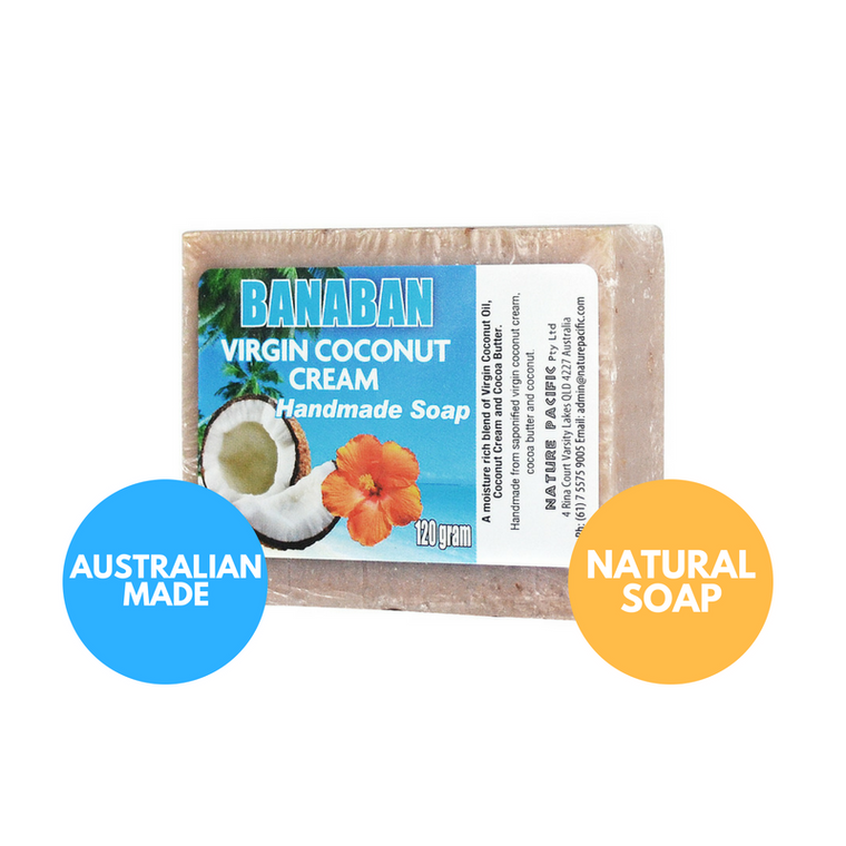 BANABAN Coconut Cream Coconut Oil Soap 120g