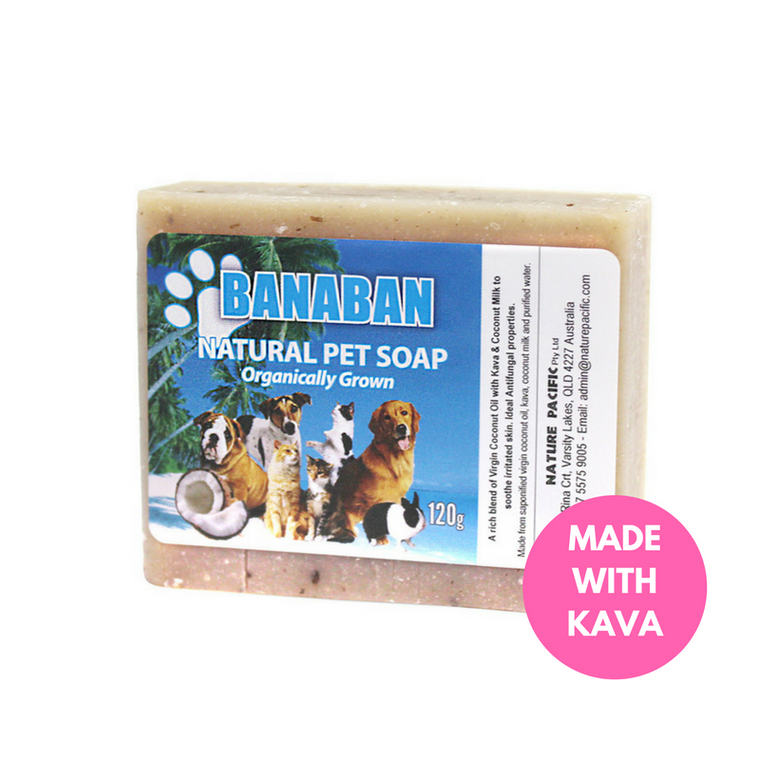 BANABAN Coconut Oil & Kava Pet Soap 120g