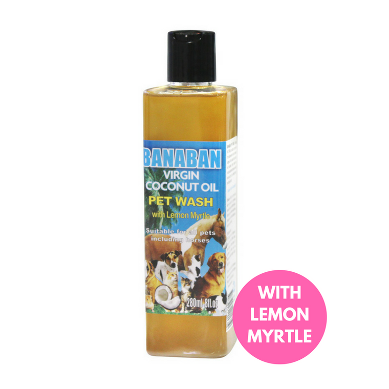 Banaban Pet Wash with Lemon Myrtle and 45% Coconut Oil