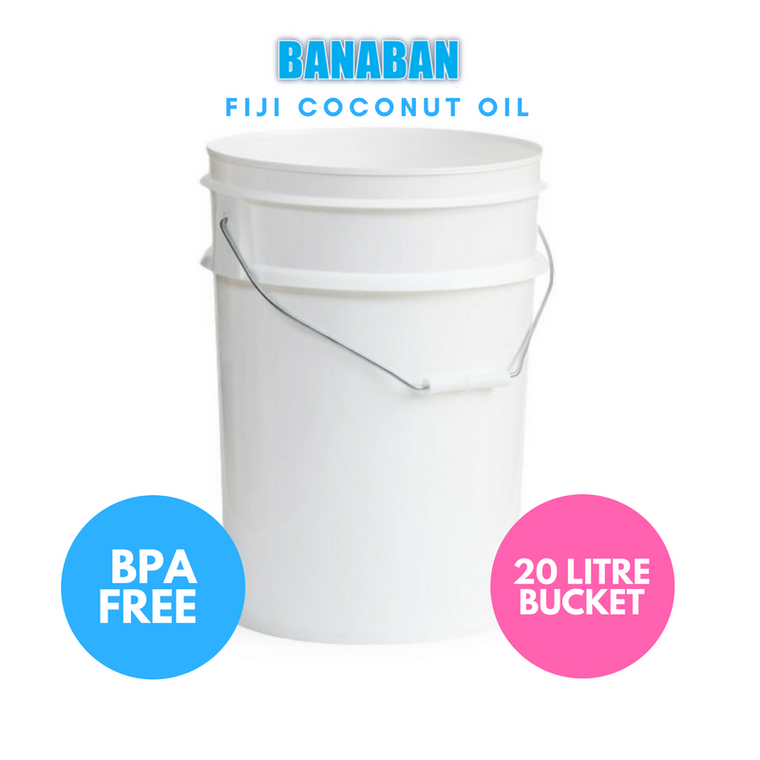 BANABAN Organic Fiji Grown Extra Virgin Cold Pressed Coconut Oil 20 Litre Tub