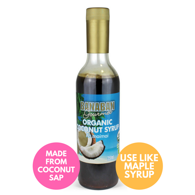 BANABAN Organic Coconut Nectar Syrup 350ml (GLASS)