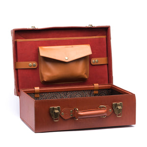 leather suitcase, trunk, accessories, vintage, ancient, handmade