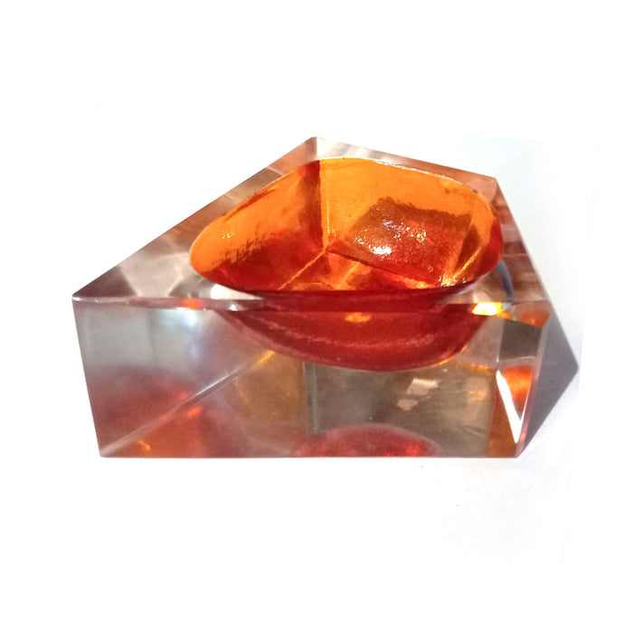 Chakmak Glass Blob Orange , Home Objects , Table top , Glass Casting, container, table top, handmade