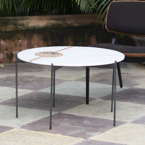 Amaze table Mandu Round Furniture , Coffee table intricate interlocking pattern marble inlay