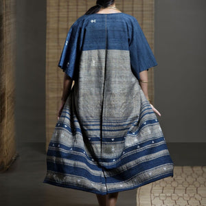 Wild Ass PARALLEL wool silk Indigo Wearable Stitched Garment Textile Weaving