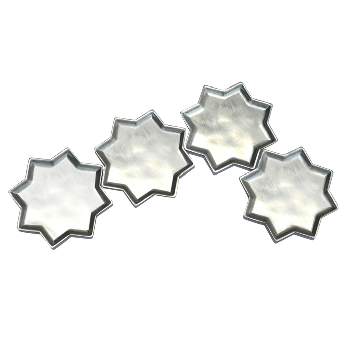 Aluminium Metal 8 point star plate tabletop table top