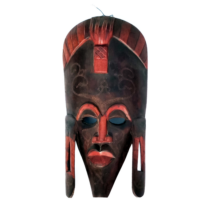 Handcrafted Art Craft Mask Cover Tribal Design Wooden