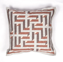Amaze Deegh Dhurrie Cushion 2x2 RustSilver Home textiles Cushions / Bolsters Durrie weaving