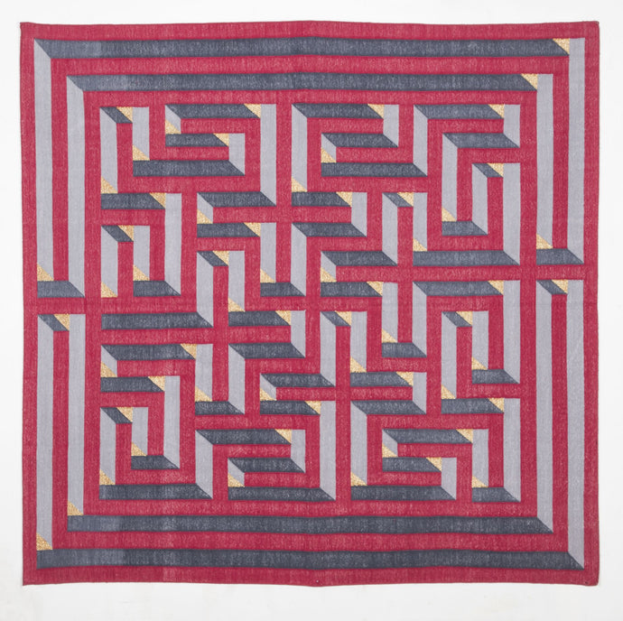 Amaze Dhurrie DEEG Square 5'x5' , Home textiles , Rugs , Carpets , Durrie weaving