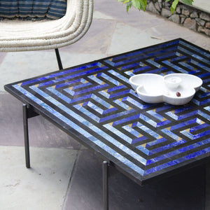 Amaze table Deeg Square Furniture , Coffee table intricate interlocking pattern marble inlay