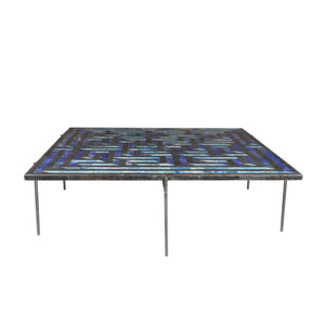 Amaze table Deeg Square Furniture , Stone Overlay , Coffee table intricate interlocking pattern marble inlay