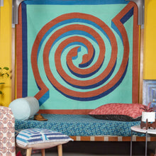 Amaze Dhurrie MANDU Round 6'x6' , Home textiles , Rugs , Carpets , Durrie weaving, handcrafted, made in India, artist