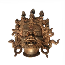 Handcrafted Art Craft Mask Cover Tribal Design Brass metal Mask, wall decoration, masks