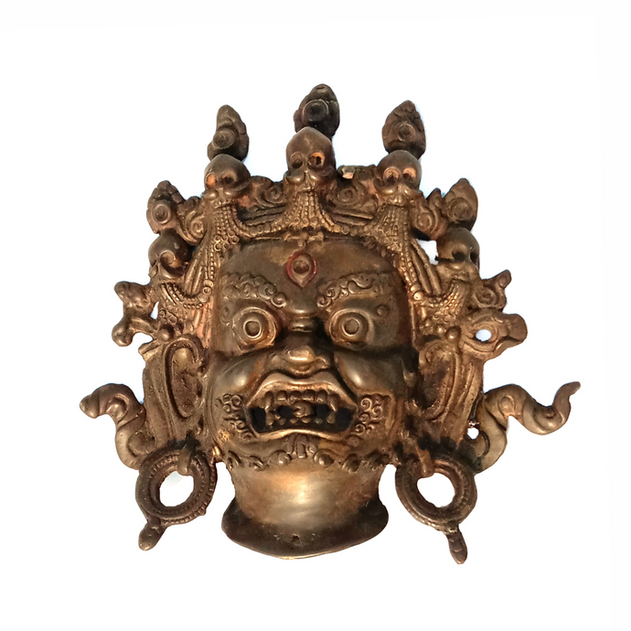Handcrafted Art Craft Mask Cover Tribal Design Brass metal Mask