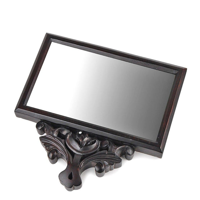 Chettinad Handheld Mirror M , Wall decor , Wall Storage , Display, Handmade, vintage, wooden mirror, ancient, crafted, handmade,.