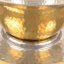 Hookka Bowl & Plate hand-hammered brass natural kalai home decor dinning serving Thathera metal artisans
