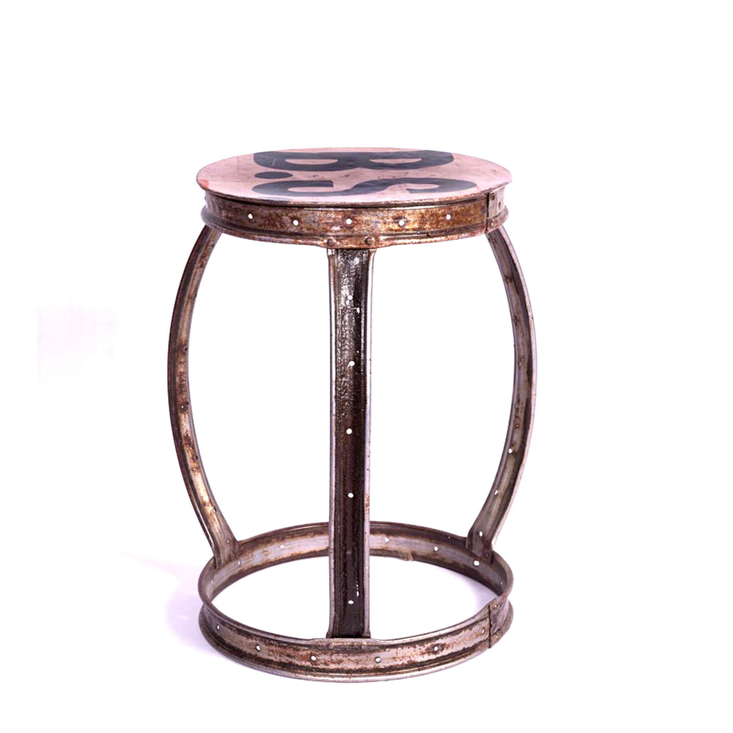Chai Stool Fat Handmade , Metal, Furniture , Stool, Outdoor, metal stool, ancient, handmade