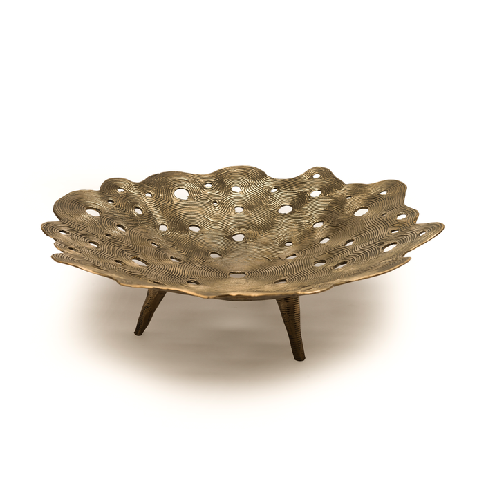 Crater Bowl Dhokra L , Home Objects , Table top , Serving , Dhokra