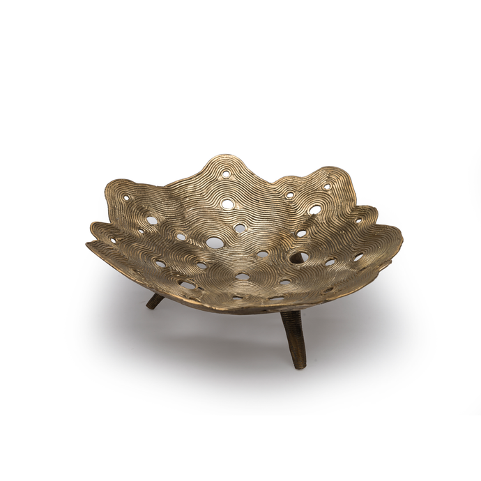 Crater Bowl Dhokra S , Home Objects , Table top , Serving , Dhokra, container