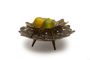 Crater Bowl Dhokra L , Home Objects , Table top , Serving , container