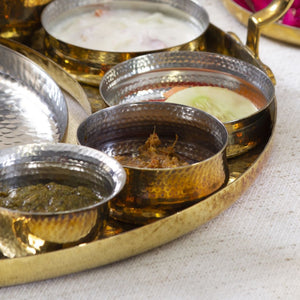 Hookka Katori metal festive serving dinning home objects thathera hand beaten metal craft, bowls, handmade