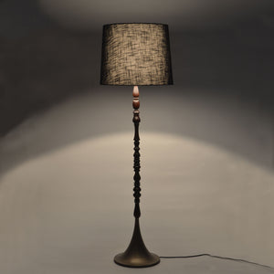 Alter floor lamp kharadi artisans cloth fabric lamp shade lighting lamp base brass mdf