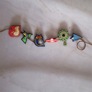 Zardozi Brooch: Ikka Ace! (Top Of The Game) Rakhi