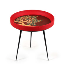 Kalam Table Squirrel Tree Handpainted Miniature painting Side Table Furniture awarded UNESCO Seal of Excellence Mango Wood Iron Detachable Legs Handturned Food Safe