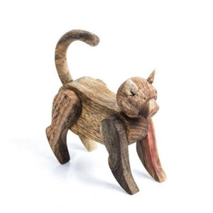 wooden toy, toys, children, cat
