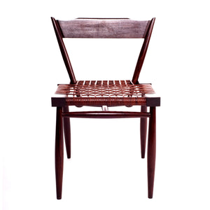 Leather Strap chair sheesham wood outdoor furniture classic design elegant comfortable Minimal wooden