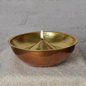 Lift Top Lau Diya Br Oil Lamp L Copper Brass Fiberglass wick Handbeaten Ditachable Top Decor Lighting Fragrance Table top