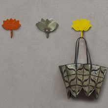 Lotus hook Br Organiser Hand Hammered thathera artisans Tarnish free iron wall decor outdoors