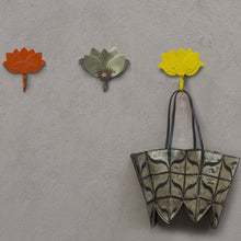 Lotus hook Ir Organiser Hand Hammered thathera artisans Tarnish free iron wall decor outdoors