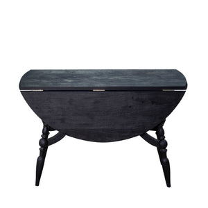 Masharbia Table Furniture round dinning table center table coffee table sandblasted turned black sheesham wood flexible foldable top