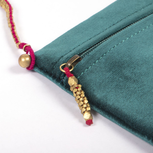 sling bag, pouch, handcrafted bag, makhmal bag