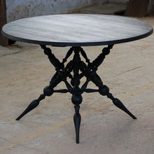 Masharbia Table Furniture round dinning table center table coffee table sandblasted turned black sheesham wood