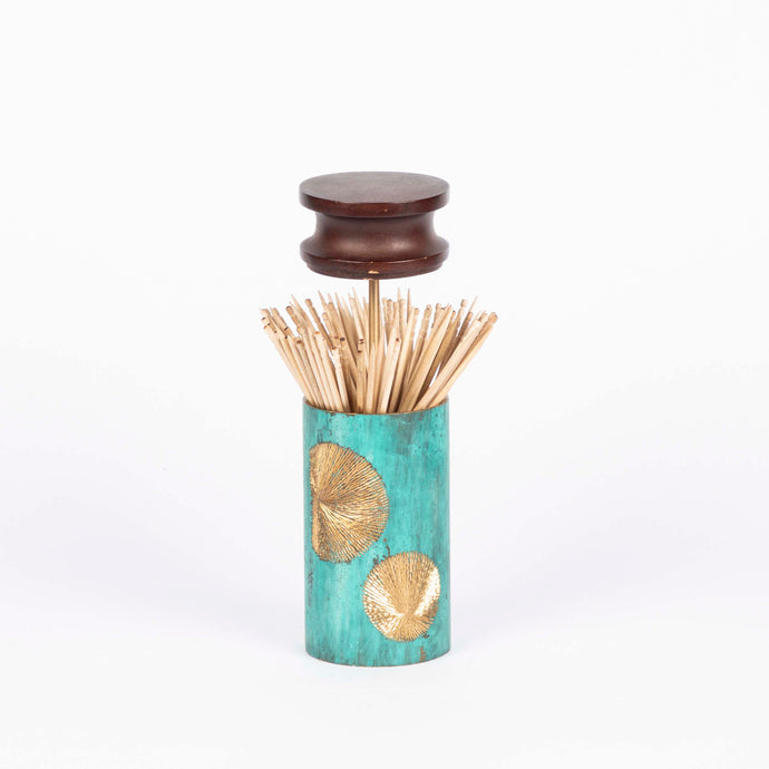 Mukhwaas supari Toothpick Holder handcrafted in wood and hand etched patina naqqashi craft  home object serving table top toothpick holder festive essential