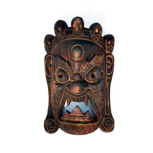 Handcrafted Art Craft Mask Cover Tribal Design Wood Nepal