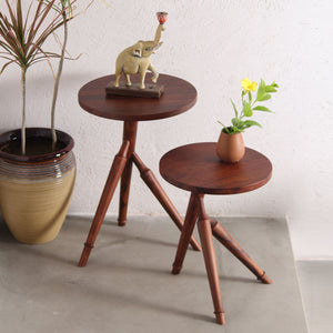 Ranthmbore Nesting Table Set of 2 Furniture Nesting table Handmade