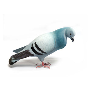PM Pigeon Down paper mache lightweight handpainted Accessory , Display , Table Top, kid, toy