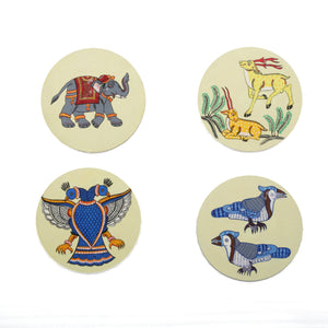 Pattachitra Coasters CD Gaaja Haathi (Elephant) set of 2